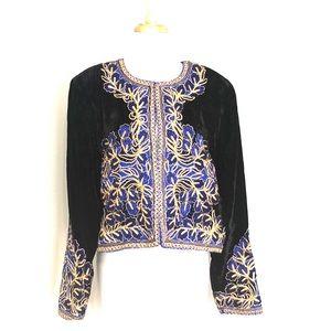 Niteline Della Roufogali black embellished jacket.